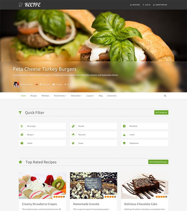10 best food blog templates images on pinterest wordpress best food wordpress themes for sharing recipes 2017 athemes forumfinder Choice Image