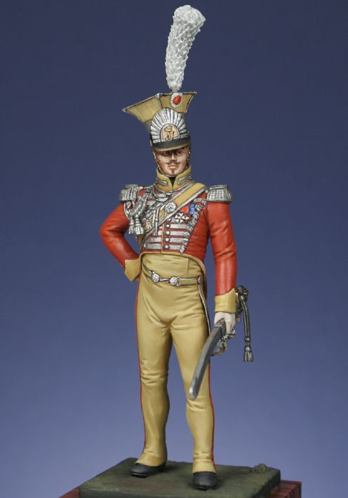 Foreign troops light infantry : Officer , guards of honour, Kingdom of Naples 1813