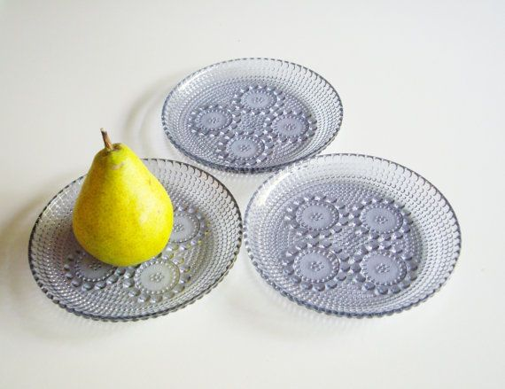 Vintage Nanny Still Grapponia Glass Side Plates by Vintagerous