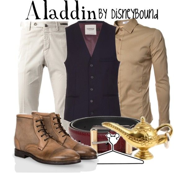 Aladdin by leslieakay on Polyvore featuring Paul Smith, Topman, TheLees, PT01 Pantaloni Torino, Versace and Disney