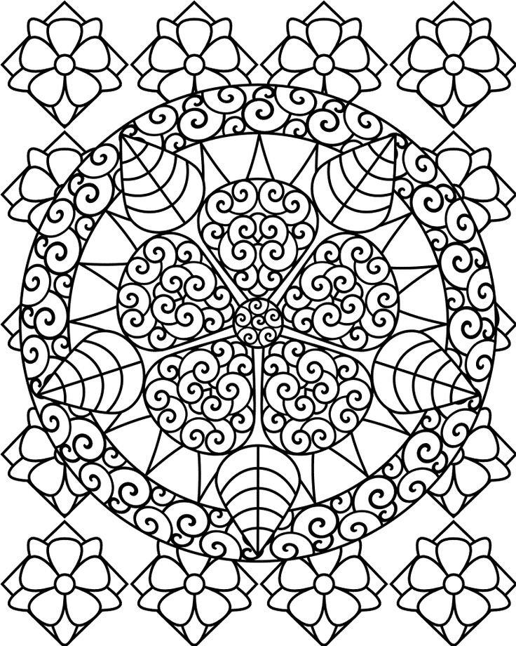 Free Printable Abstract Coloring Pages For Kids Adult Coloring