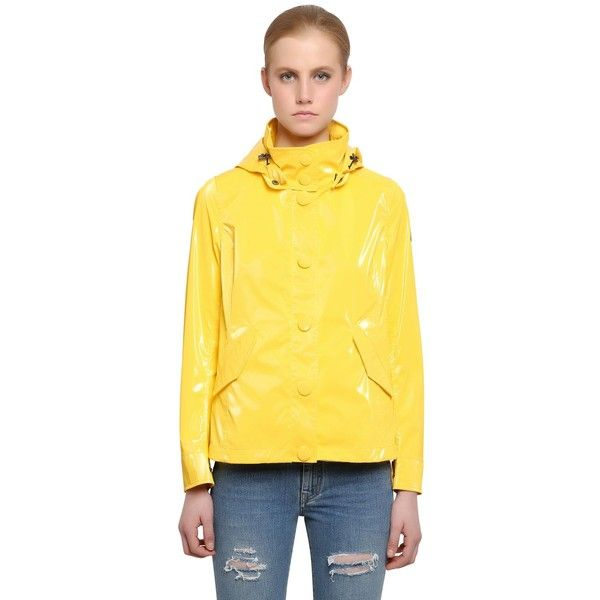 COLMAR ORIGINALS Waterproof Raincoat ($151) ❤ liked on Polyvore featuring outerwear, coats, yellow, water proof coat, yellow rain coat, waterproof raincoat, yellow raincoat and waterproof coat