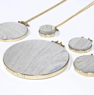 Newspaper wood Jewellery