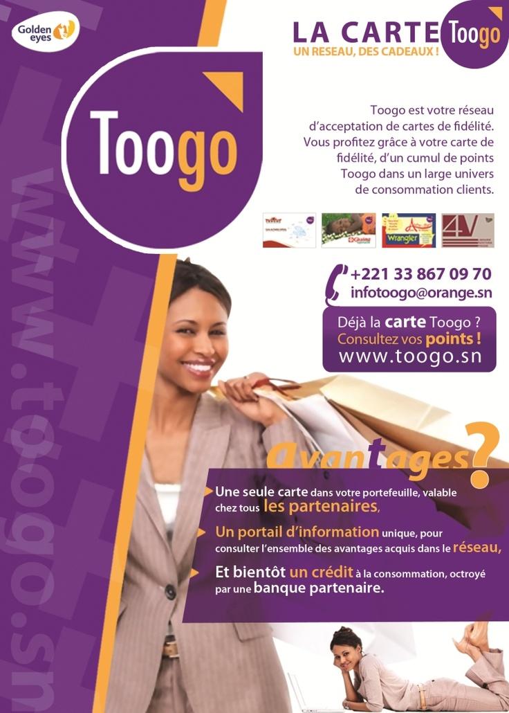 Newsletter de Golden Eyes éditeur de la carte de fidélité Toogo utilisée notamment par les supermarchés Casino au Sénégal. Mai 2012