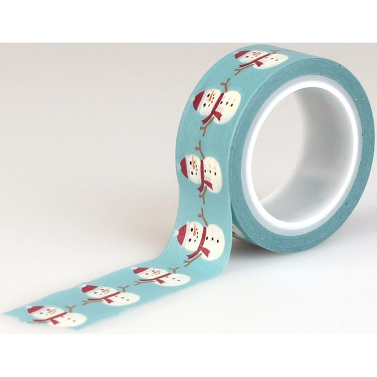 Echo Park The Story Of Christmas - Snowman Decorative Tape