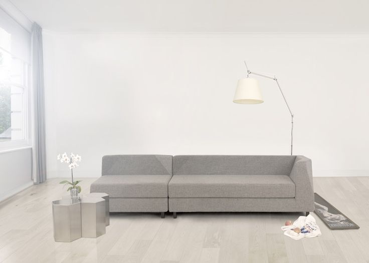 Leather Sectional Sofa Ear Sofa with angled corners by St Ely for Lerival