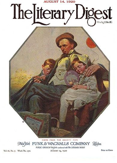 Home from the County Fair by Norman Rockwell from the August 14, 1920 issue of The Literary Digest