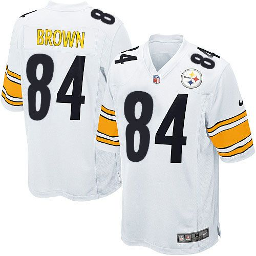 Nike Limited Mens Pittsburgh Steelers #84 Antonio Brown White NFL Jersey$89.99