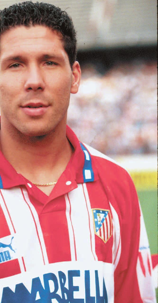 El Cholo Simeone cuando jugaba para el Atleti.