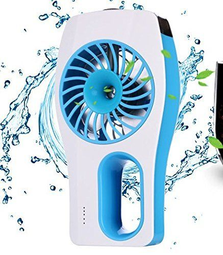 SYMWELL USB Electric Mini Desktop Handheld Portable Air Conditioning Air Cooler Fan Air Fan Humidifier FanFor BeautyHomeOfficeSchoolTravelOutsideBlue *** Want additional info? Click on the image. (Note:Amazon affiliate link)