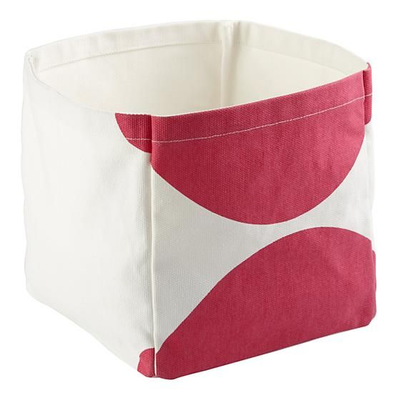 Color Pop Cube Bin (Pink)  | The Land of Nod