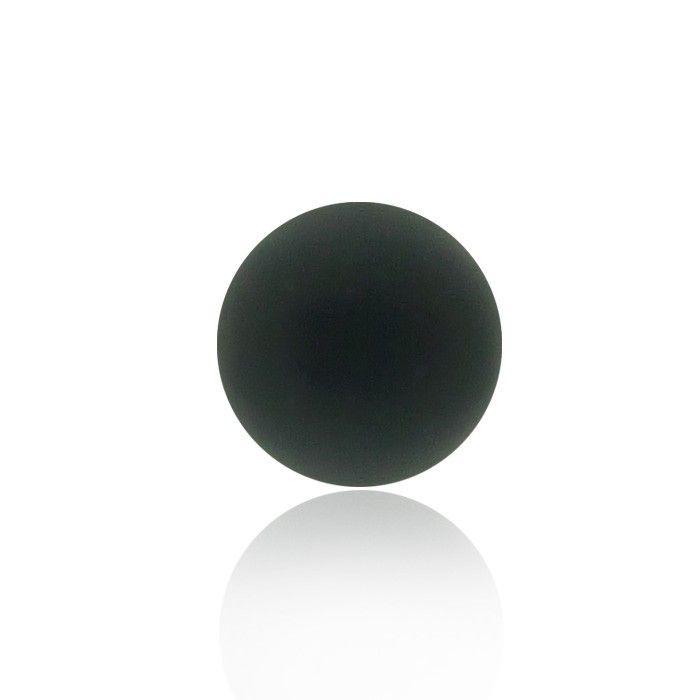 Boule de piercing noire en acrylique, disponible en plusieurs taille :  pour les piercing arcade, piercing labret ou piercing tragus.