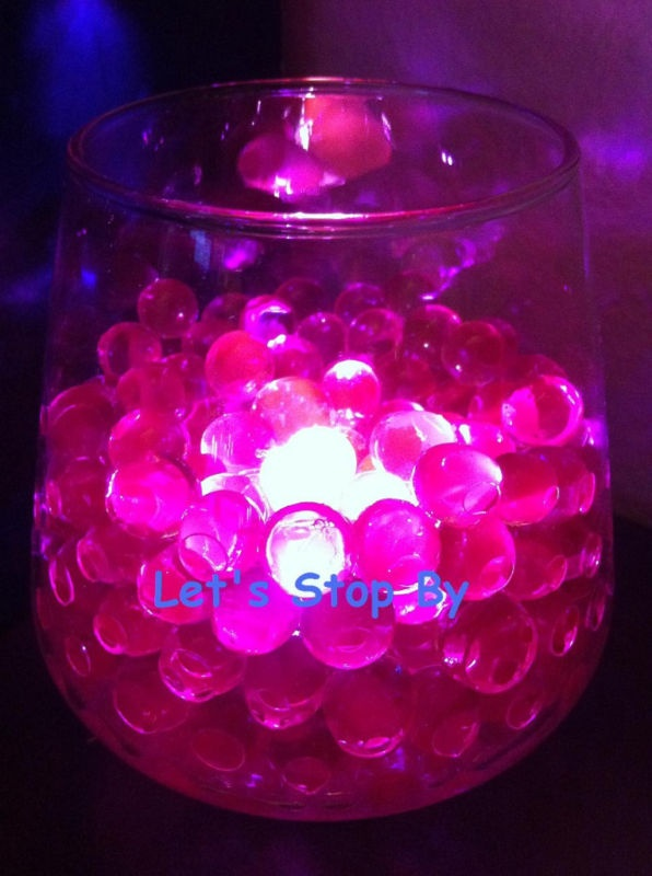 details about 4oz pink water pearl 12 led submersible