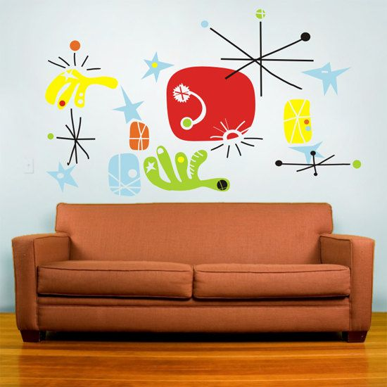 Vinyl wall decal mural art make your own miro joan miro for Create your own wall mural photo