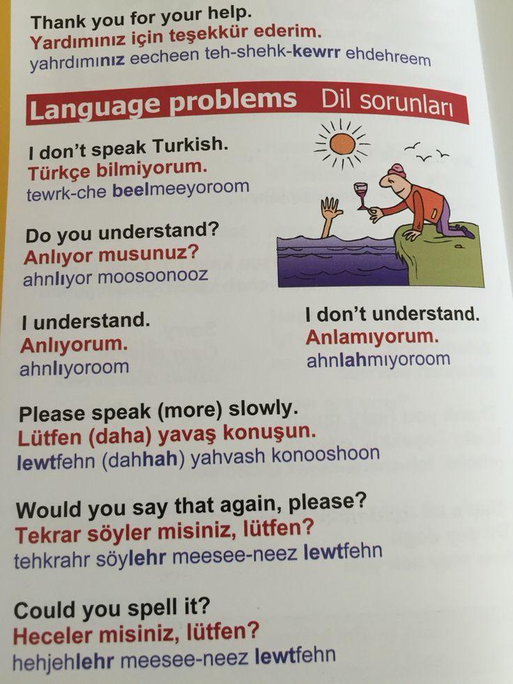 Dil sorunları - language problems
