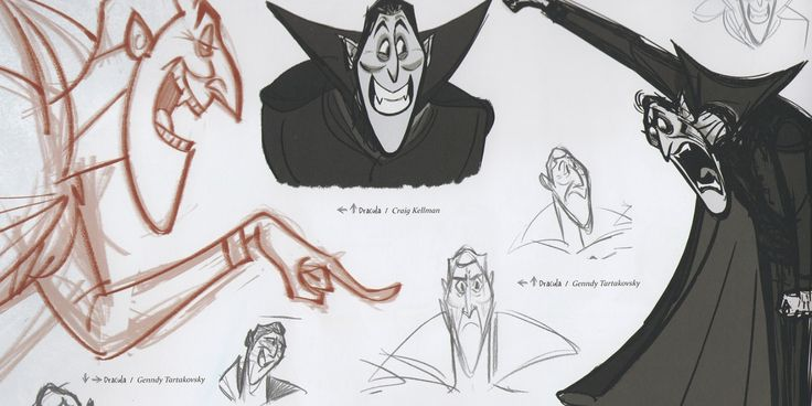 Enjoy a gallery of 120+ Original Concept Art, Character Design & production cels for Hotel Transylvania.