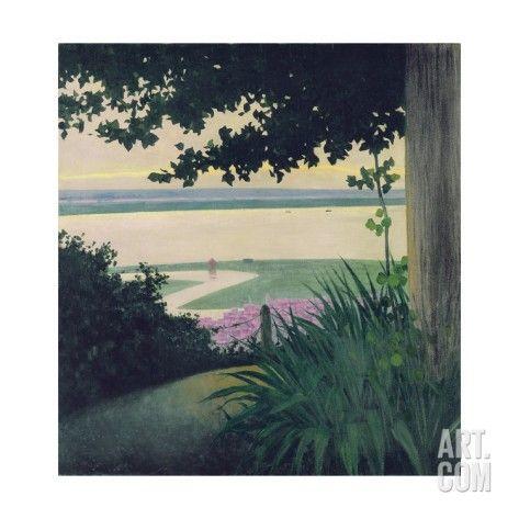 'Honfleur and the Baie de La Seine, 1910' par Felix Edouard Vallotton