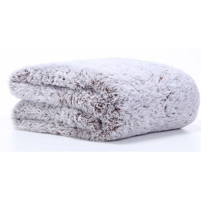 Berkshire Blanket Frosted Tip Fluffy Throw Blanket Color: Chocolate