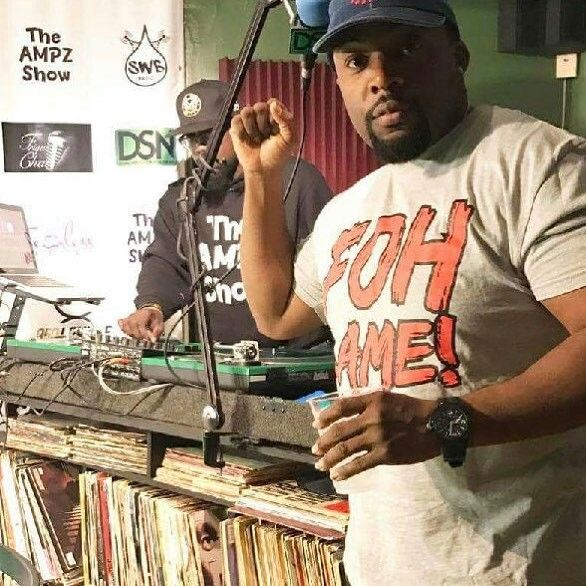 """The Ampz Show was rocking last night. Our """"FOH Lame"""" shirt and our """"New York Gritty"""" snapback made an appearance. Salute to @djampz & @djthousandaire for the continued support!!! #epicteam6 #clothing #culture #independent #brand #urban #street #nyc #skatelife #streetwear #custom #design #fashion #icon #waves #fly #fresh #business #entrepreneur #dope #music #hiphop #legacy #tradition #ambition #determination #waves #paperchase"""