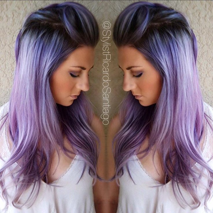 Smoked  Metallic Periwinkle  ...she wanted her hair a little darker, and a…
