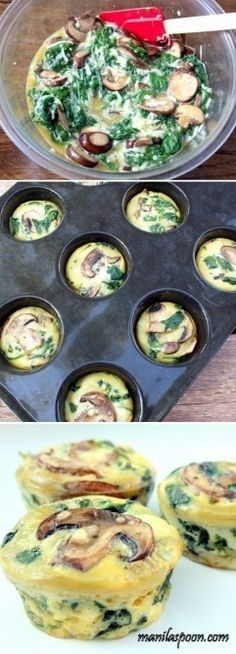 Spinach Quiche Cups - a healthy low-carb and gluten-free breakfast