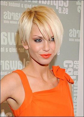 Classy or Sassy short hair...cut, not color...I'm not a good blonde. :)