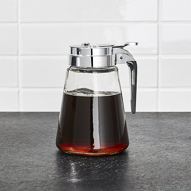 Glass Syrup Dispenser | Crate and Barrel