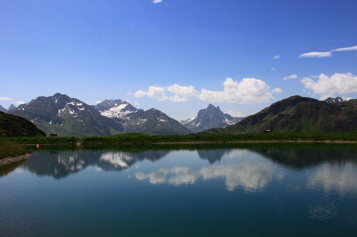 Wanderweg, Sankt Anton am Arlberg, Tirol, Austria