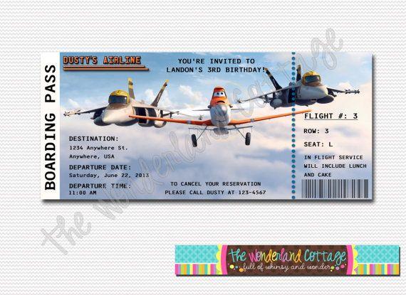 Disney Planes Invitation by TheWonderlandCottage on Etsy, $6.00