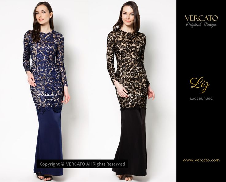 VERCATO (LIZ LACE KURUNG BLACK AND NAVY BLUE): www.vercato.com
