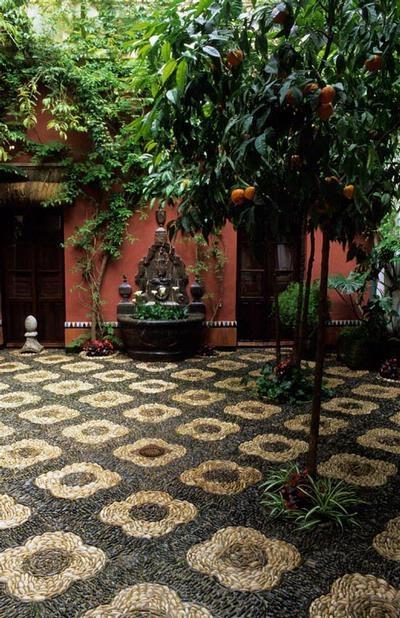 Love the stone floors!  Cordoba patio festival, Spain