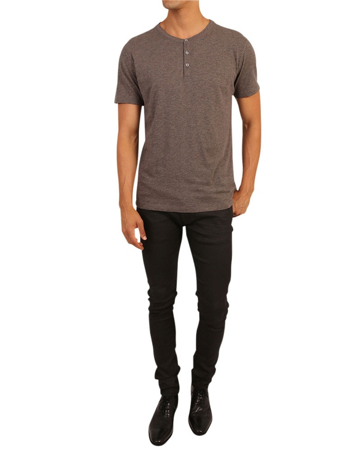 Washed Henley T-Shirt