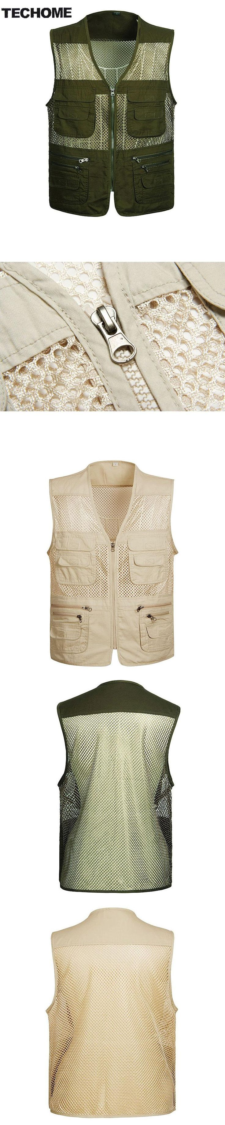 2016 Men's Photographer Vest Multi-Pockets Cheap Vests Out-door Shooting Hunt Waistcoat Vest Walking Travel Vest plus size 4XL