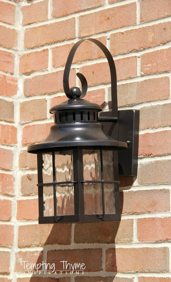 1000 ideas about painting light fixtures on pinterest for Outdoor garage light fixtures