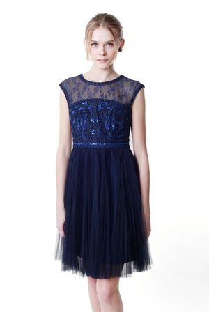 GRACE CONTINENTAL(グレースコン チネンタル) コードプリーツドレス