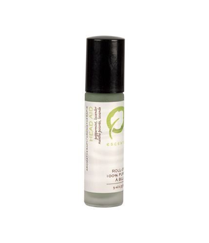 Head-Aid/Headache Relief Roll-on with Peppermint and Lavender essential oils. Ease muscle tension and help relieve migraines and headaches naturally.