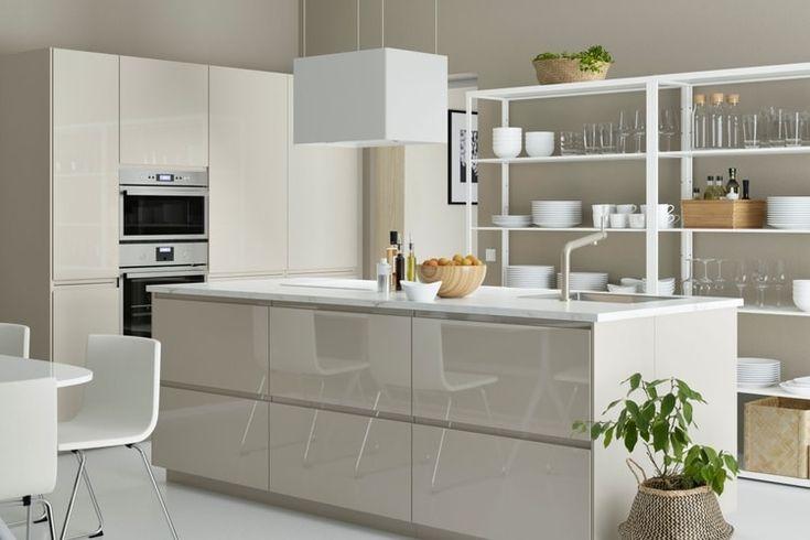 ikea voxtorp hockkglanz fronten mit hyttan o kombinieren kitchen pinterest kitchens. Black Bedroom Furniture Sets. Home Design Ideas