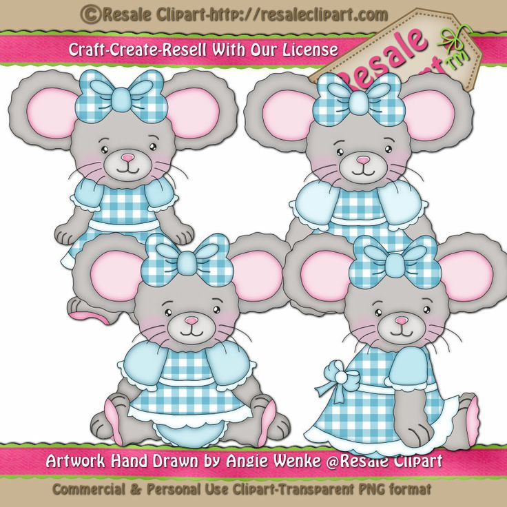 Lil Girl Mice Clipart