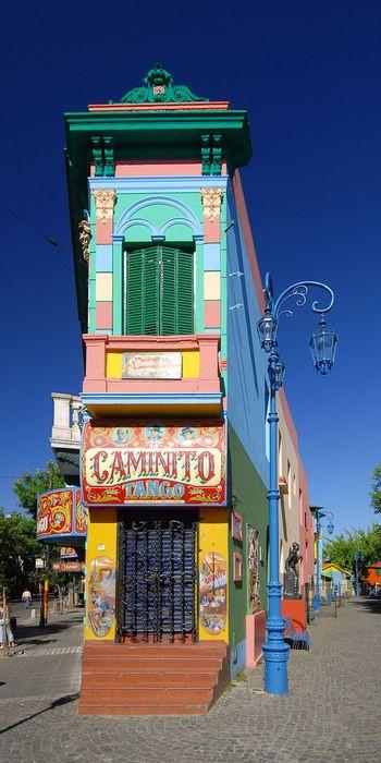Tango Building, beautiful bright colours.