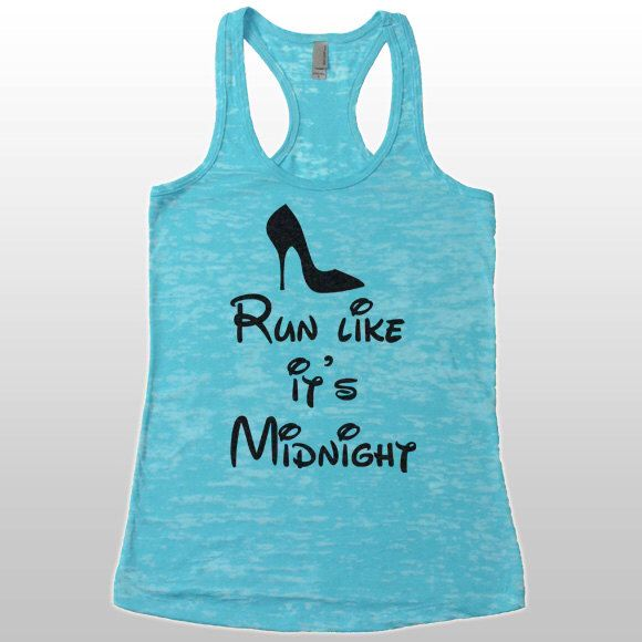 Disney Marathon Shirt. Tank Tops For Women. Run Like It's Midnight Tank. Disney Running Shirt. Half Marathon Running Shirt. by CuteBuffy on Etsy https://www.etsy.com/listing/228766781/disney-marathon-shirt-tank-tops-for