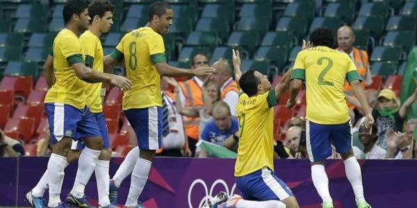 Cuplikan Gol Brasil vs Mesir - Cuplikan Gol Brasil U23 vs Mesir U23 Olimpiade London 2012
