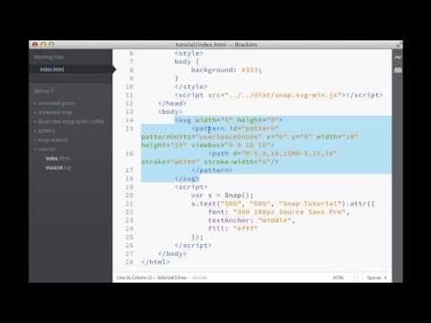 Snap.svg :: JavaScript SVG library supporting features like masking, clipping, patterns, full gradients, groups, etc. (Video: Getting Started with Snap.svg)