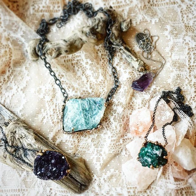 Wearing Natural crystals is a spiritual & personal journey that only who walk can make. Statement Raw Aquamarine Necklace | Dioptase necklace and Raw Amethyst pendant | unique pieces oxidized sterling silver handmade in Italy  Shop on giardinoblu.com or ask for custom healing jewelry pieces. (scheduled via http://www.tailwindapp.com?utm_source=pinterest&utm_medium=twpin&utm_content=post187745083&utm_campaign=scheduler_attribution)