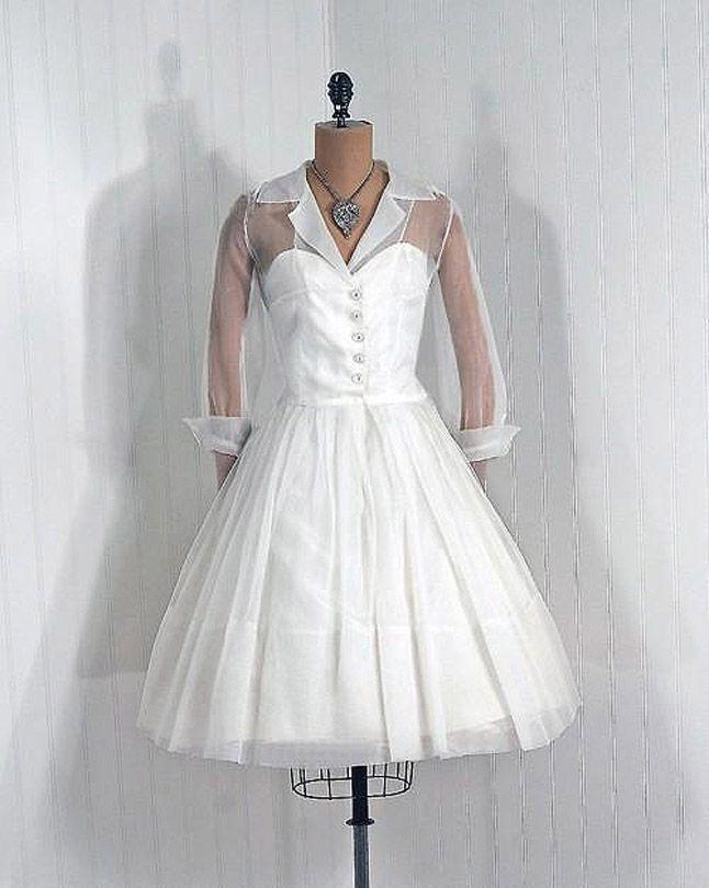 Свадебные платья — 1950-е гг.