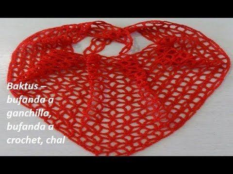 Baktus – bufanda a ganchillo, bufanda a crochet, chal Ch №56