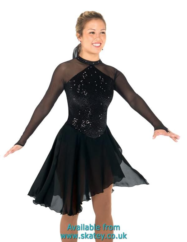 Black Jack Ice Dance Dress. Part of the Jerrys Dresses collection available to buy from Skatey.co.uk