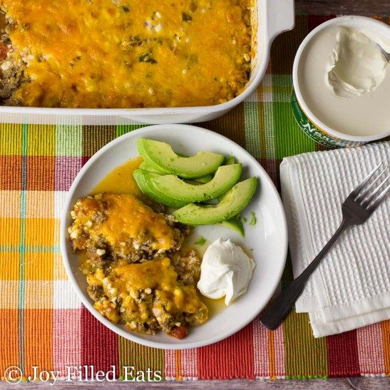 This Easy Mexican Taco Casserole really hit the spot. With only 5 ingredients and a 5 minute prep time it is a lifesaver on busy weeknights.