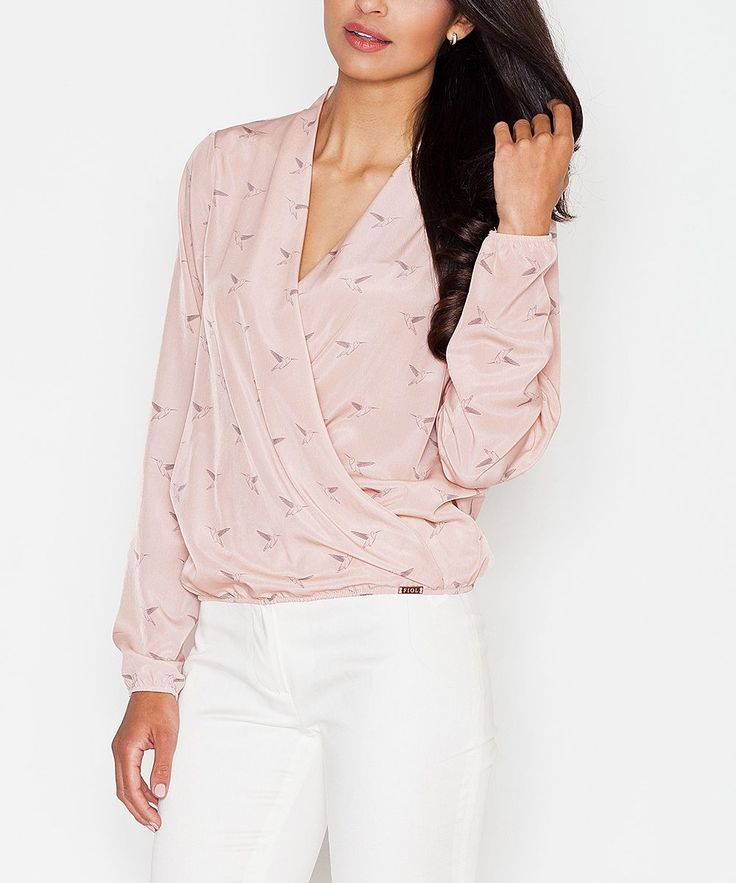 Pink Hummingbird Surplice Top