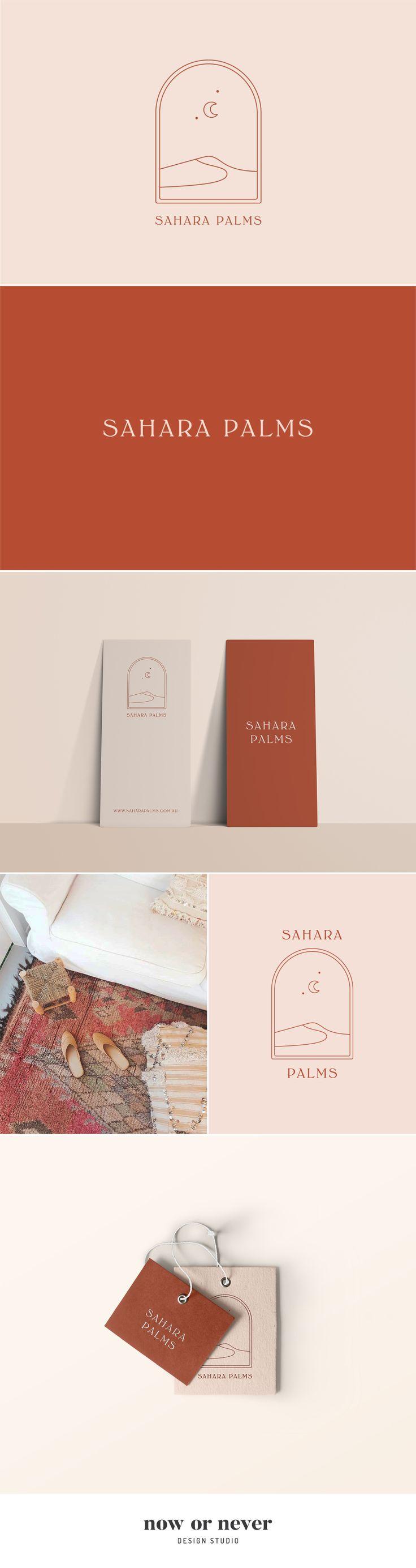 Sahara Palms logo designed by Now or Never Design