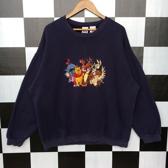 Vintage Winnie The Pooh And Friends Sweatshirt AD01 #oberteile